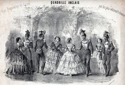 Image result for quadrille 1860s