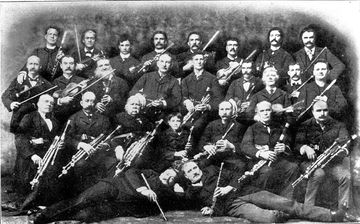 Chicago's Irish Music Club in the first years of the 20th century. Fr. J.K. Fielding is in the 2nd row, seated, extreme right.